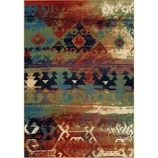 orian rugs southwest dreamcatcher multi red 8 ft x 11 ft indoor area rug 318128 the home depot