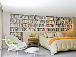 Modern Bedroom Library Walls