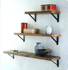 dark wood wall shelves black metal and fantastic i like these brackets think with uk bathroom