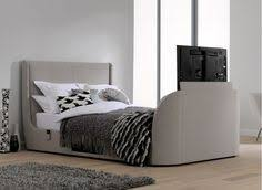 tv bed. titanium t3 oatmeal fabric upholstered samsung led tv bed frame tv