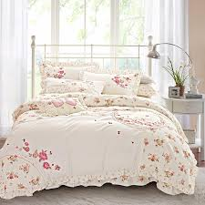 fl boho bedding sets queen king size bed set princess korea bedclothes girls cute bed linen duvet cover sheet pillowcases gingham bedding bedding