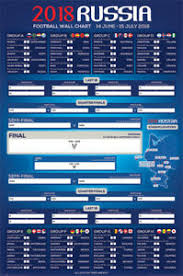 World Cup 2018 Wall Chart Details About 2018 Russia World Cup Soccer Football Wall Chart Poster 24x36