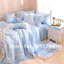 princess comforter twin princess bedding sets queen king lace satin bedding blue pink white dot girl