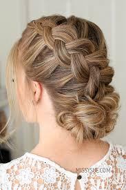 dutch braid and low bun missy sue
