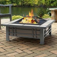 fire pit table wood burning real flame steel reviews