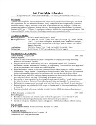 Software Engineer With One Year Experience Format Experienced