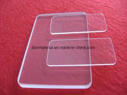 optical polishing r5 quartz glass piece with corner cut