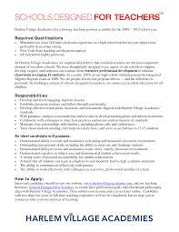 Secondary School Teacher Resume Resume For Your Job Application