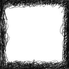 4 Square Scribble Frame PNG Transparent OnlyGFXcom