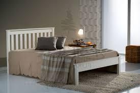 Denver Bed Frame (Ivory) | Wooden Beds in 2019 | Pine bed frame ...