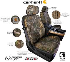 carhartt famous rugged durability is now available in seatsaver custom seat covers