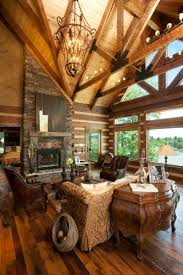 Best Images About Great Rooms On Pinterest - Interior log homes