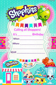 Party Invites Templates Free Updated Free Printable Shopkins Birthday Invitation Template