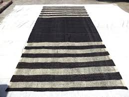 black and white feet cm nomadic woven natural goat hair wool color flat weave rug kilim