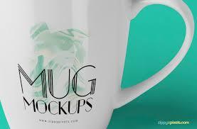 three free coffee cups mock ups