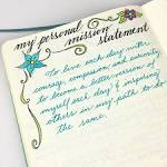 writing your own personal mission statement