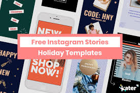 Holiday Templates Free Instagram Stories Holiday Templates Later Blog