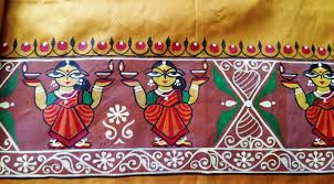 hand fabric painted silk sarees manufacturer supplier in kolkata india