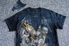 diy choker cutout t shirt metallica band shirt
