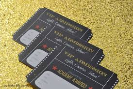 How To Make Printable Invitations Free Printable Oscar Party Invitations Diy Gold Glitter