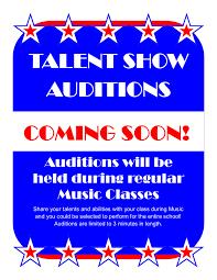 Talent Show Audition Flyer 2019