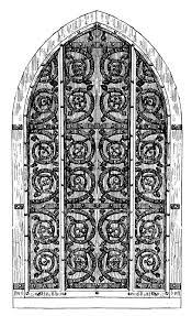 vine clip art gothic door harry potter esque 2