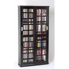 leslie dame enterprises sliding door inlaid glass mission black cabinet