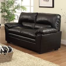 faux leather loveseat. Simple Leather Homelegance Talon Casual Black Faux Leather Loveseat Inside B