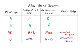 62 Unique Blood Groups Antigens And Antibodies Chart