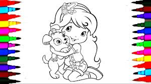 Strawberry Shortcake Berry Best Friend Dog Coloring Book Pages L