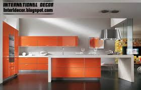 modern kitchen design 2015. Contemporary Orange Kitchen Cabinets Designs 2015, Bright Kitchens Modern Design 2015