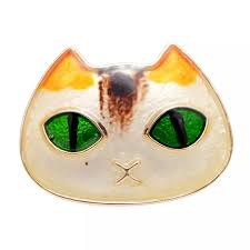 <b>CINDY XIANG 2 Colors</b> Available Green Eye Cat Brooches for ...