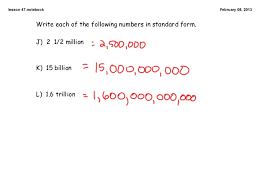1 billion in standard form 7th math c2 l47 feb8