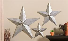 metal stars wall decor black