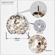 beautiful silver flower crystal pendant lights fixtures aluminum hanging pendant lamp crystal light for dining bedroom md88035