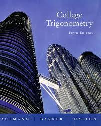 global online store books science mathematics trigonometry college trigonometry