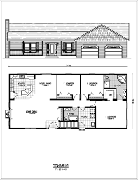 Small One Bedroom Homes Blueprints For A Small Single Level House Small Single Level Home