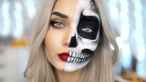 half face makeup easy half skull makeup tutorial ad you easy makeup