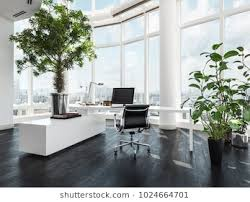 pics luxury office. Modern Luxury Office Interior In A Pent House With Curved White Walls And Windows Overlooking Pics