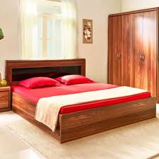 archer engineered wood box storage king size bed in walnut colour by hometown at best hometown in