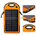 Внешний аккумулятор (Power Bank) PowerPlant PB-LA9267 12000 mAh Black, Li-pol, USB, солнечная батарея, 2 х USB, 163 х 88 х 21 мм, пластик, 243 г