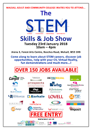 Great Job Skills Stem Skills And Jobs Fair In Walsall Ptp