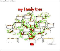 Family Tree Example Template Sample Family Tree Chart Onedaystartsnow Co
