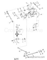 Throttle and shift linkage manual serial range mercury outboard
