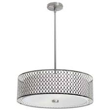 nella 3 light satin chrome pendant with laser cut shade
