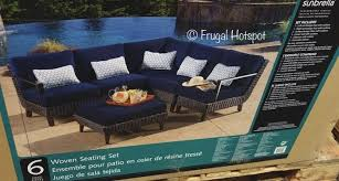 foremost melrose 6 pc woven seating set