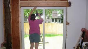 installing sliding glass doors