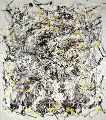 portrait of v i lenin cap in the style of jackson pollock 1980