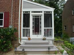 ... side screened in porch entry - Arlington Forrest home ...