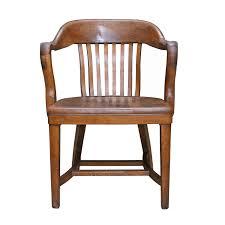 vintage wooden office chair. Vintage Oak Office Chair Wooden E